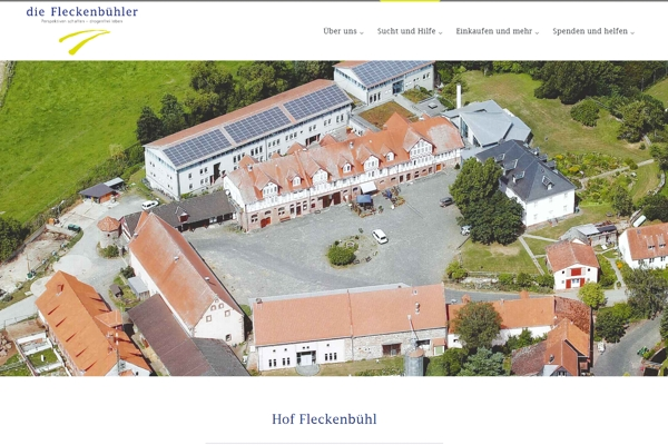 Screenshot Website www.die-fleckenbuehler.de